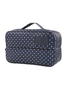 Dark Blue Spots Multi-Functional Travel Underwear and Socks Organizer Bag