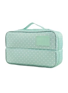 Blue Spots Multi-Functional Travel Underwear and Socks Organizer Bag