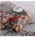Gorgeous Pastoral Style Print 4-Piece Cotton Duvet Cover Sets