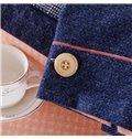 Simple Color Block 100% Cotton 4-Piece Duvet Cover Sets