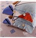 Chic Geometrical Pattern Print 4-Piece Cotton Duvet Cover Sets