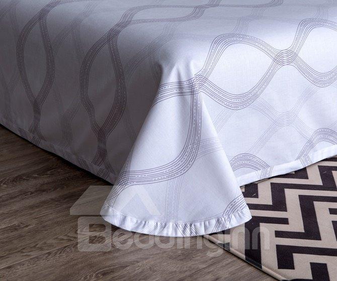 Urban Gray 4-Piece Cotton Duvet Cover Sets