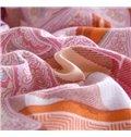Unique Chevronand Floral 4-Piece Cotton Duvet Cover Sets