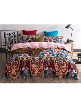 Exotic Style Colorful 4-Piece Cotton Duvet Cover Sets