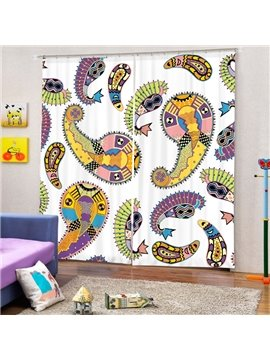 European Decorative Pattern Printing 3D Curtain