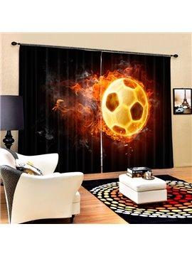 A Fire Football Printing 3D Curtain