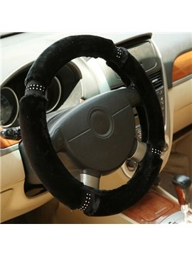 Solid Special 3D Stereo Design Winter Autumn Hot Popular Plush Car Steering Wheel Cover
