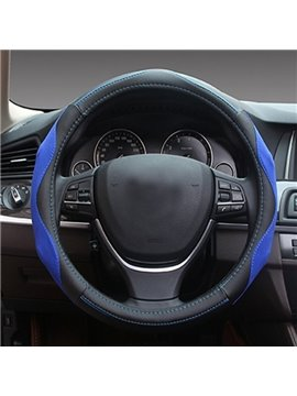 Stereo Visual Effects With Bright Color Mixed Hot Leather Car Steering Wheel Cover