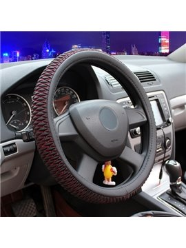 Special Panel Design Ice Silk And Cotton Material Medium Universal Car Steering Wheel Cover