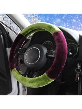 Charming Contrast Color Design And Super Comfortable Hand Feel Car Steering Wheel Cover