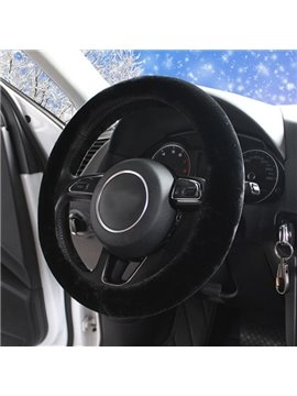 Colorful Fashion Comfortable Plush Material Medium Car Steering Wheel Cover