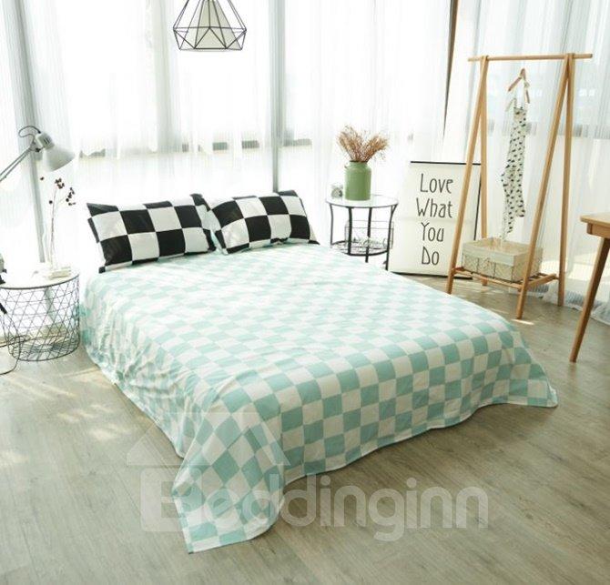 Classic Checker Print 4-Piece Cotton Duvet Cover Sets