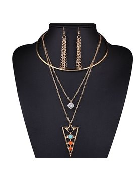 Charming Unique Design Alloy 3-Pieces Jewelry Sets