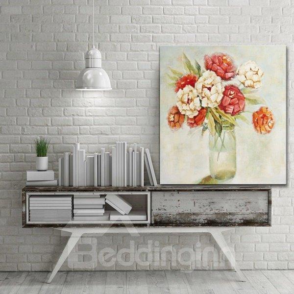 Decorative flower vase on desktop pattern for wall for Decoration none