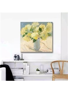 Country Style Flower Pattern Canvas Stretched None Framed Oil Painting