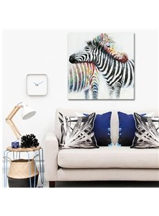 Two Romantic Lovely Zebras Pattern None Framed Oil Painting