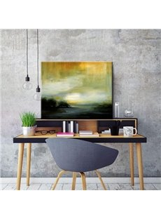 Special Design Sunset River Scenery Canvas Stretched None Framed Oil Painting