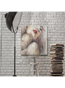 Sexy Red Lips Girl Pattern Home Decorative None Framed Oil Painting