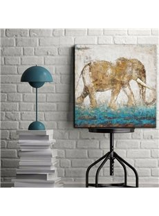 Modern Art 100% Handmade Elephant Pattern None Framed Oil Painting