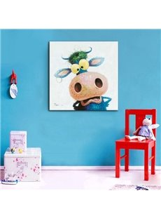Cute Cartoon Donkey Pattern None Framed Home Decorative Oil Painting