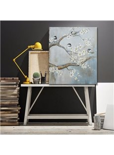 White Elegant Plum Blossom Print for Home Decoration Oil Painting