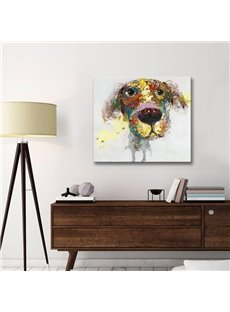 Cute Little Dog Pattern Decorative Canvas None Framed Oil Painting