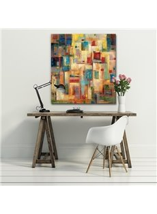 Decorative Square Colorful Paint Pattern None Framed Oil Painting