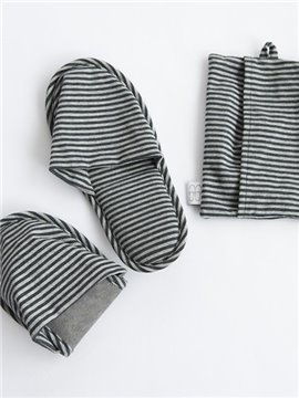 Simple Stripe Fashion Autumn Winter And Spring Cotton Drag Slippers