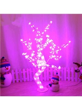 Pink Christmas Decorative Tree with Beautiful Flowers Waterproof LED Lights