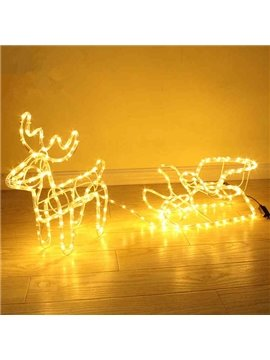 European Style Christmas Decorative Deer Cart Shape LED Light