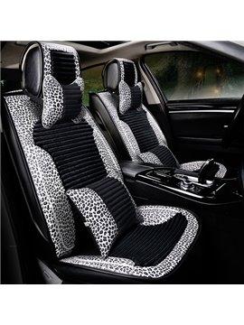 New Fashion Unique Leopard Design PVC Leather Material Universal Car Seat Cover