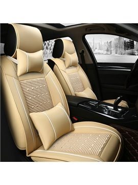 Pretty Matching Interior Durable PVC Leather With Ice Silk Blending Universal Car Seat Cover