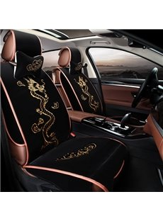 Lucky Dragon With Clouds Embroidery Crafts Fashion Universal Car Seat Cover