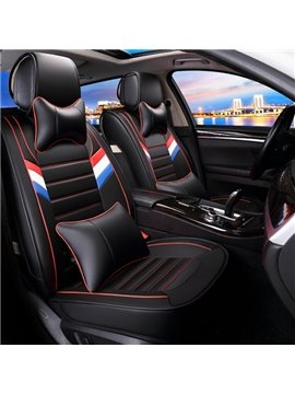New Fashion Solid Color With Special Side Double Three-Color Bar Design Universal Car Seat Cover