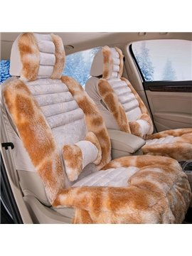 Super Fashion Winter Plush Material Warm Mixed Color Design Universal Car Seat Cover