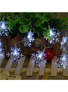 White Beautiful Christmas Decorative Snowflake 6.56 Feet LED String Lights