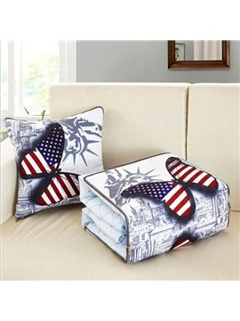 Chic American Style 3D Butterfly Printed Throw Pillow