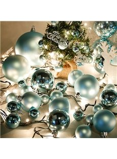 Pretty Festival 60mm Blue Christmas Tree Decoration Balls