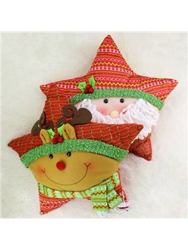 Pretty Lovely Christmas Decorative Star Throw Pillow