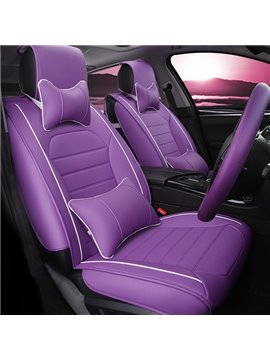 Magic Attractive Purple Design And Popular Durable Leather Material Universal Car Seat Cover