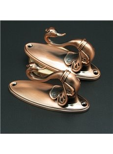 Retro Aurichalceous Swan Pattern Alloy Curtain Holdbacks