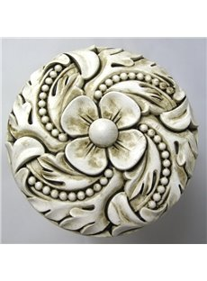 Three Colors Available Flower Carving Resin Curtain Holdbacks