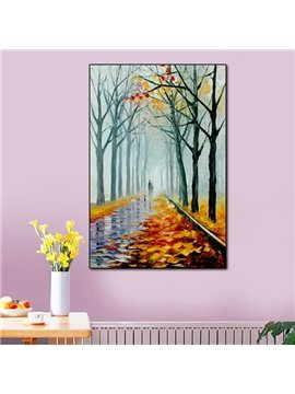 Natural Rectangle Autumn Scenery Pattern Home Decorative None Framed Wall Art Prints