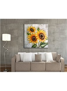 Decorative Handmade Sunflowers Pattern Canvas Stretched None Framed Wall Art Prints