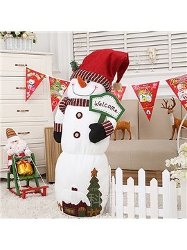 Lovely Decorative Festival 100 CM Christmas Snowman Design Toy