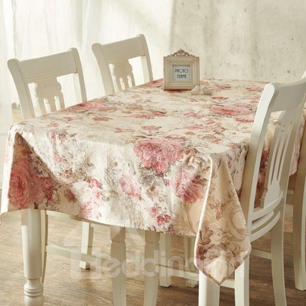 stylish rectangle cotton european style flower prints