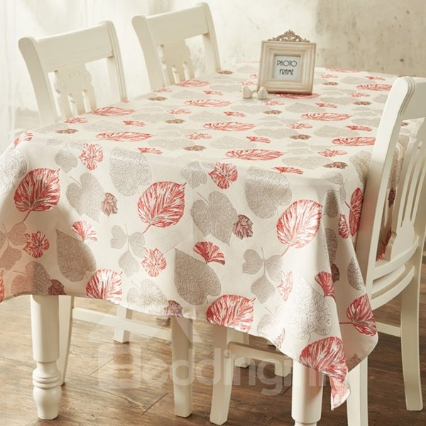 Gorgeous Rectangle Cotton Beautiful Leaves Prints Dining  : 125575861 from www.beddinginn.com size 600 x 600 jpeg 62kB