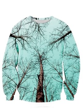 Long Sleeve Tree and Sky Pattern 3D Painted Hoodie