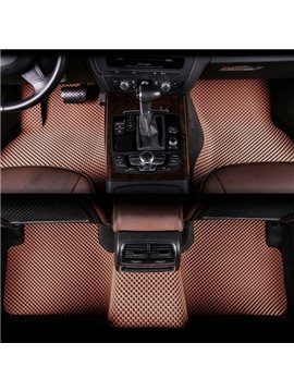 Fashion Coffee Popular Grid Design Friendly-Environment Material Dedicated Car Carpet
