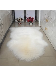 Gorgeous Decorative Modern Design 2 Pieces Sheep Wool Splicing Area Rug